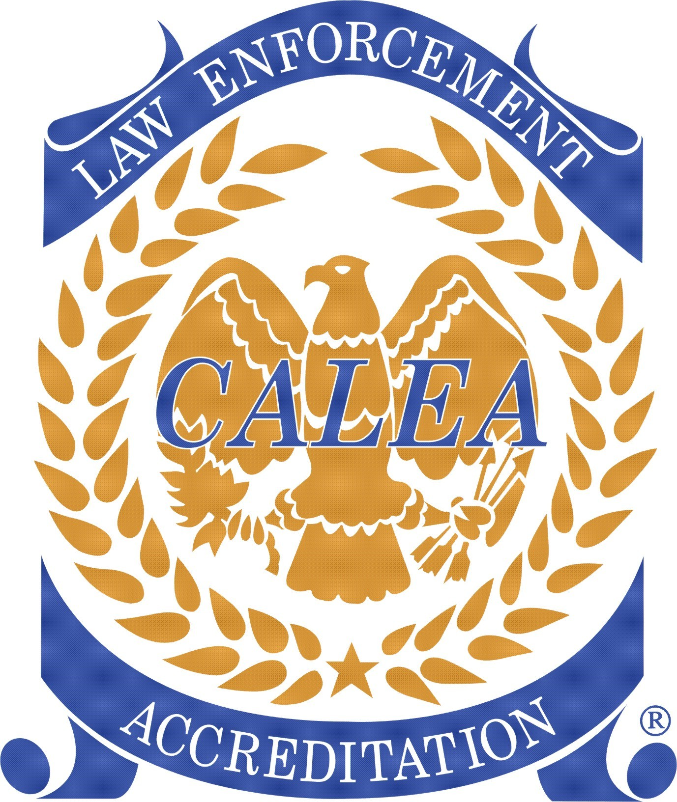Logo of the Commission on the Accreditation of Law Enforcement Agencies