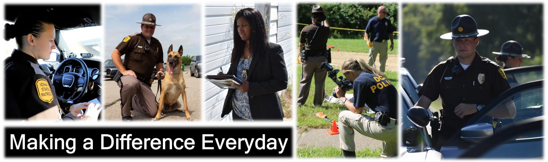 pictures of Troopers and Agents making a difference everyday