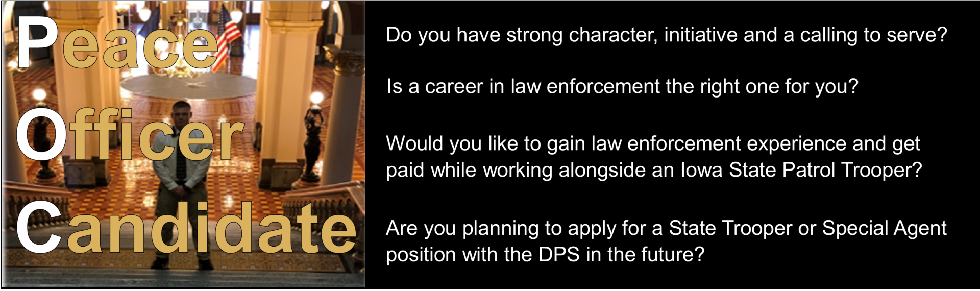 banner for Peace Officer Candidate position