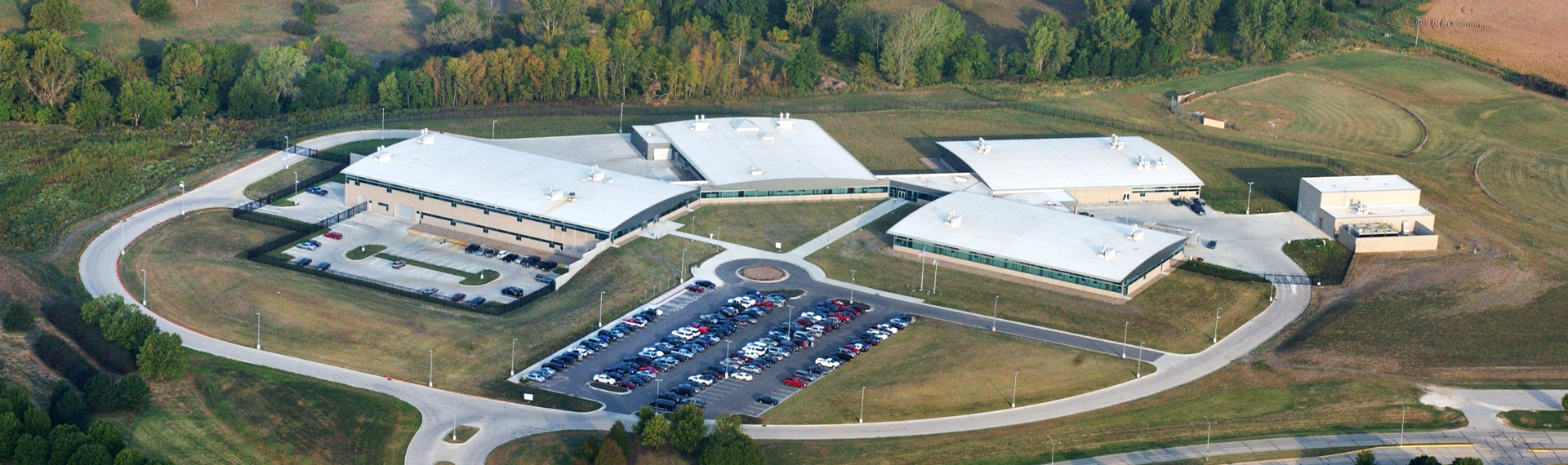 Aerial view of laboratory facilities